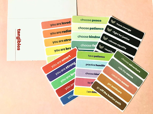 gift bundle! choose any three affirmation sticker kits