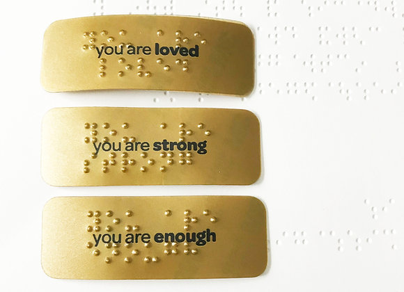 you are loved: in braille