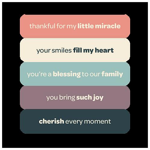 'little miracle' vinyl stickers