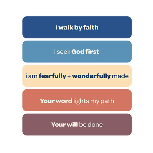 'i walk by faith' vinyl stickers