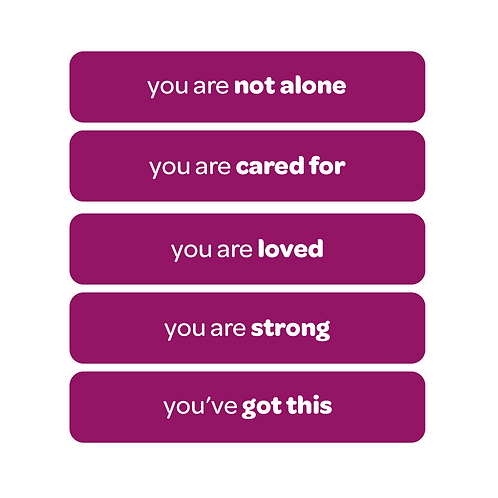 'you are not alone' vinyl stickers