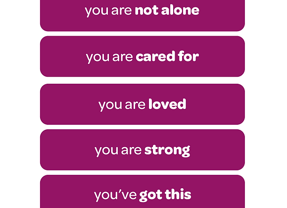 you are not alone | affirmation stickers