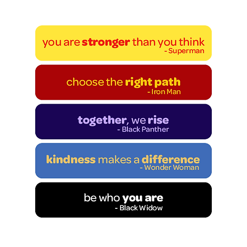 'be your own hero' vinyl stickers