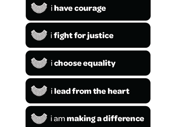i have courage: RBG-inspired affirmation stickers