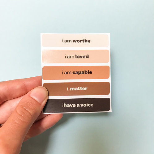'i have a voice' vinyl stickers