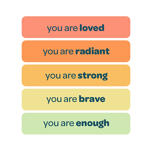 'you are loved' vinyl stickers