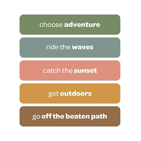 'choose adventure' vinyl stickers