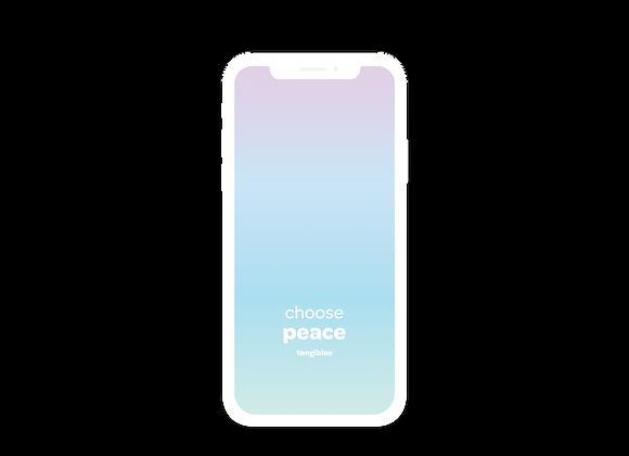 'choose peace' tangibles phone wallpaper