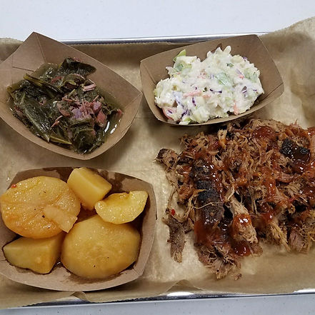 Daddy D's Pulled Pork BBQ plate
