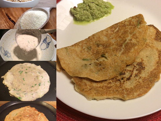 Breakfast Recipe – Oats Dosa or crepes