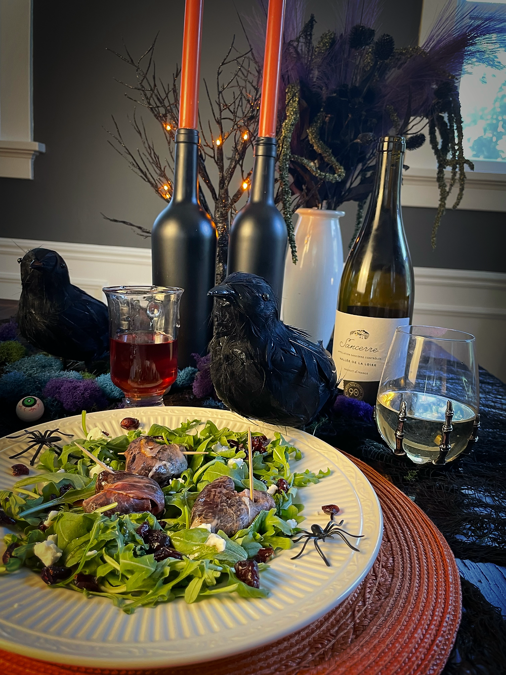 Prosciutto Wrapped Date Heart Salad