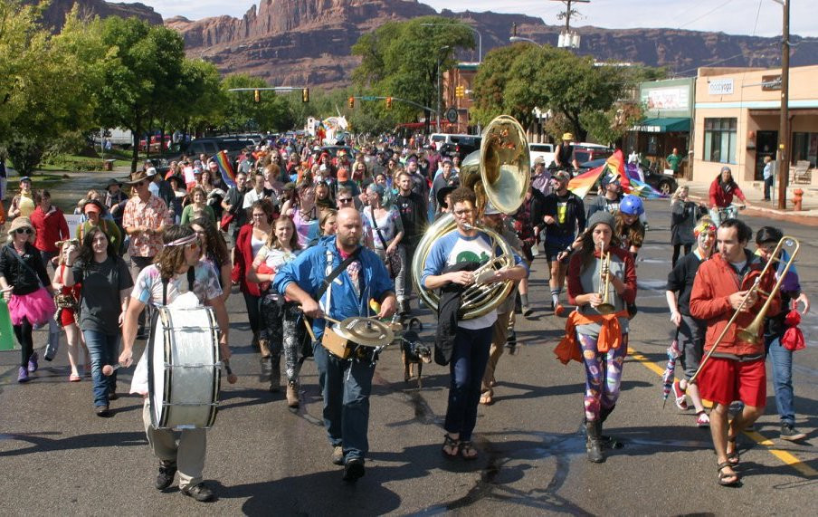 2017 Moab Pride Festival visibility march