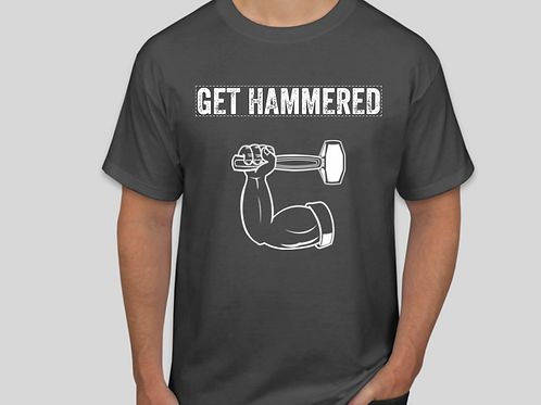 Get Hammered Grey Tee