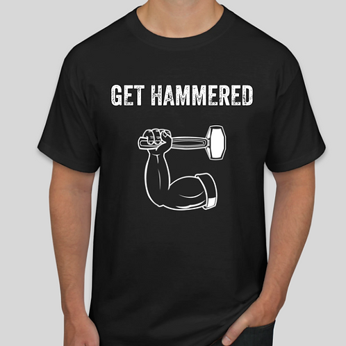 Get Hammered Black Tee