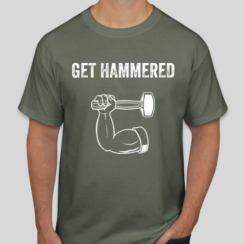 Get Hammered Olive Green Tee