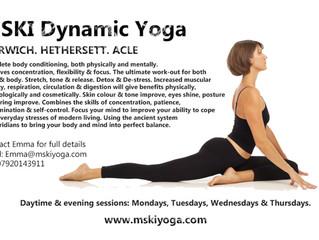 MSKI Dynamic Yoga in Norwich, Hethersett & Acle