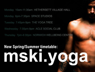 New Spring/Summer Timetable