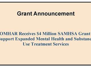 COMHAR Receives $4M SAMHSA Grant