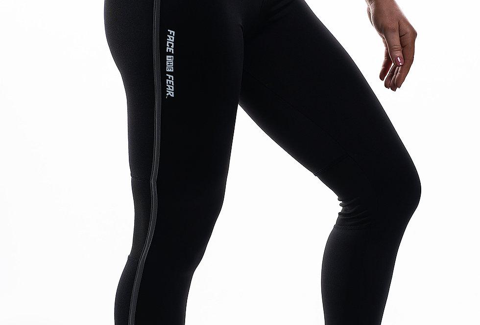 Women's Contrast Leggings - Black/Gunmetal Grey
