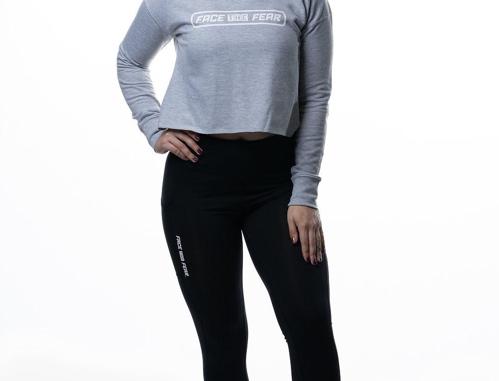 Women's Cropped Sweatshirt - Heather Grey