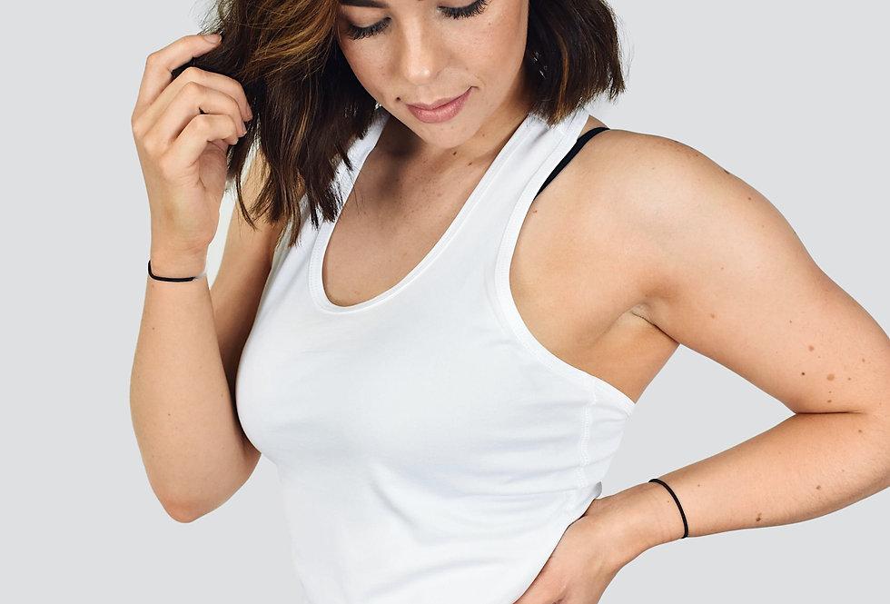 Women's Strap Back Vest - White
