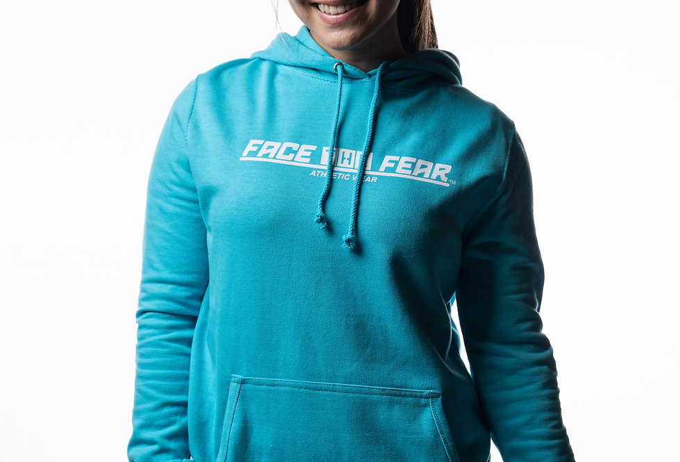 Women's Athletic Hoodie - Turquoise Surf