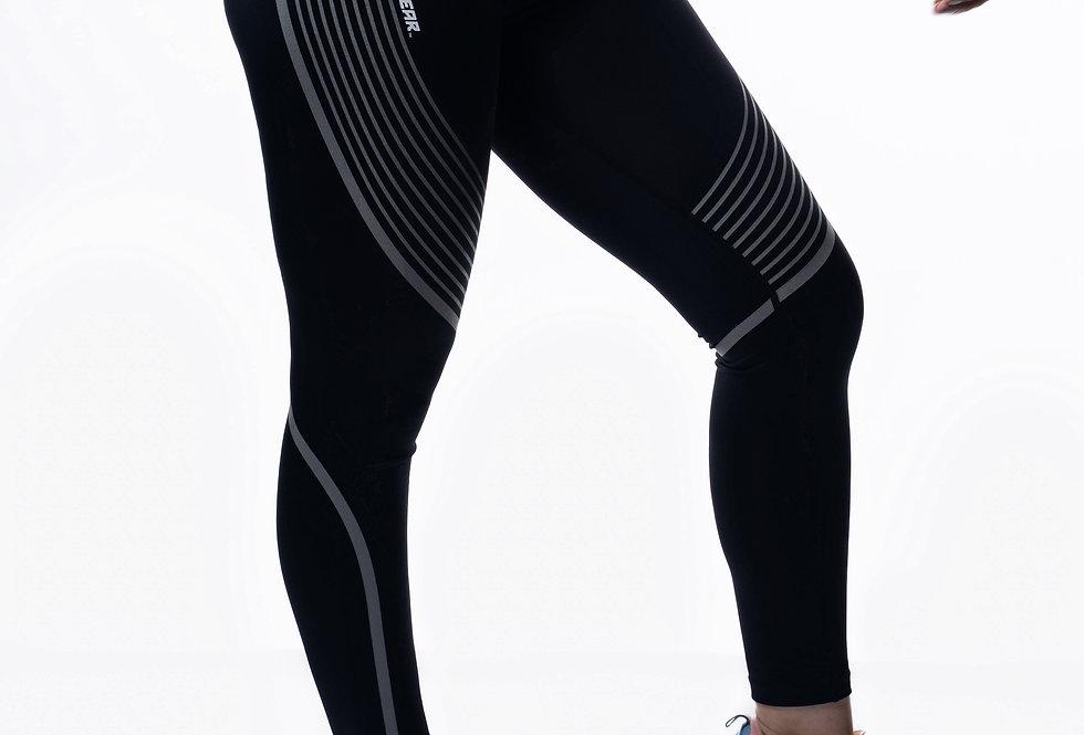 Women's Reflective Leggings - Black
