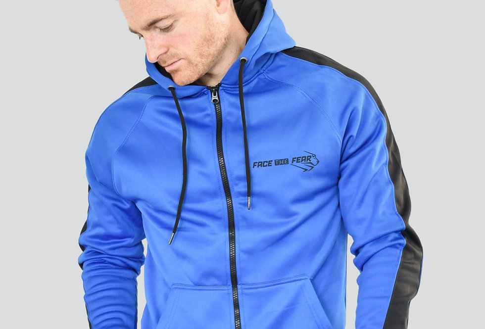 Men's Premium Sports Zip Up - Royal Blue/Black