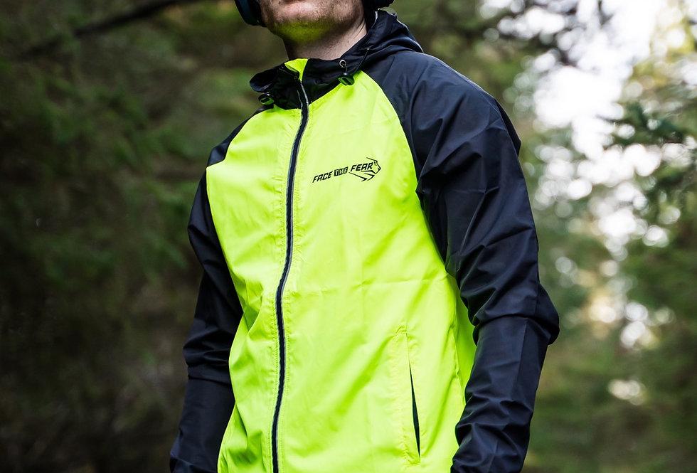 Men's Run Light Jacket - Black/Electric Yellow