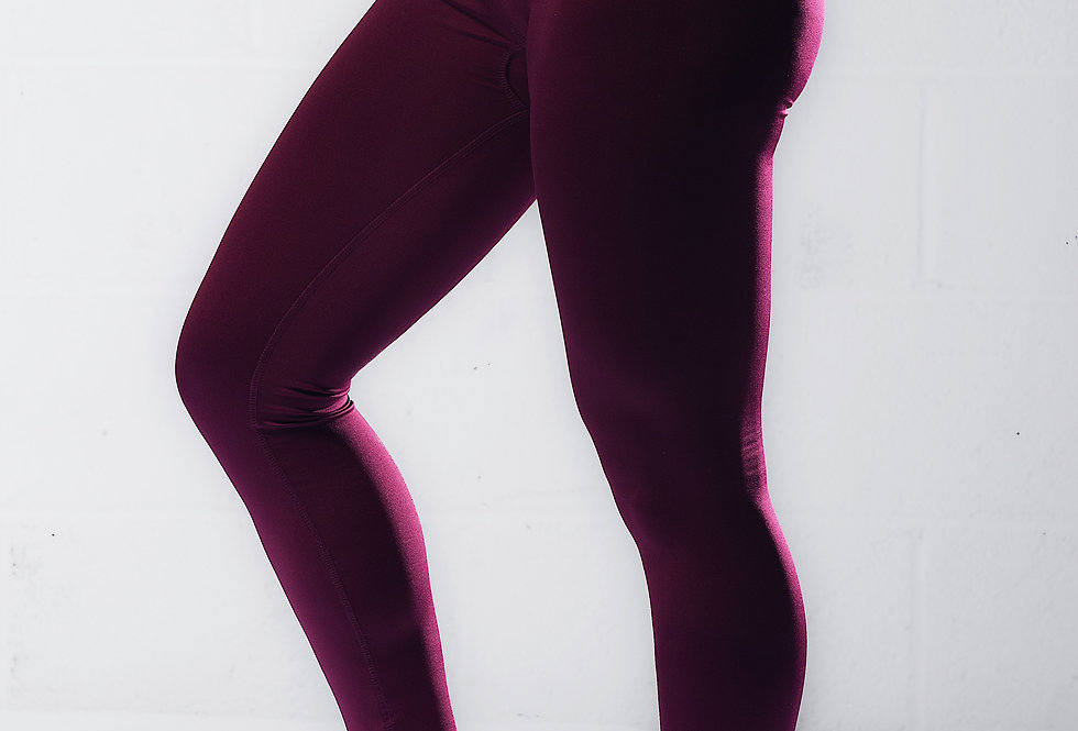 Workout Leggings - Burgundy