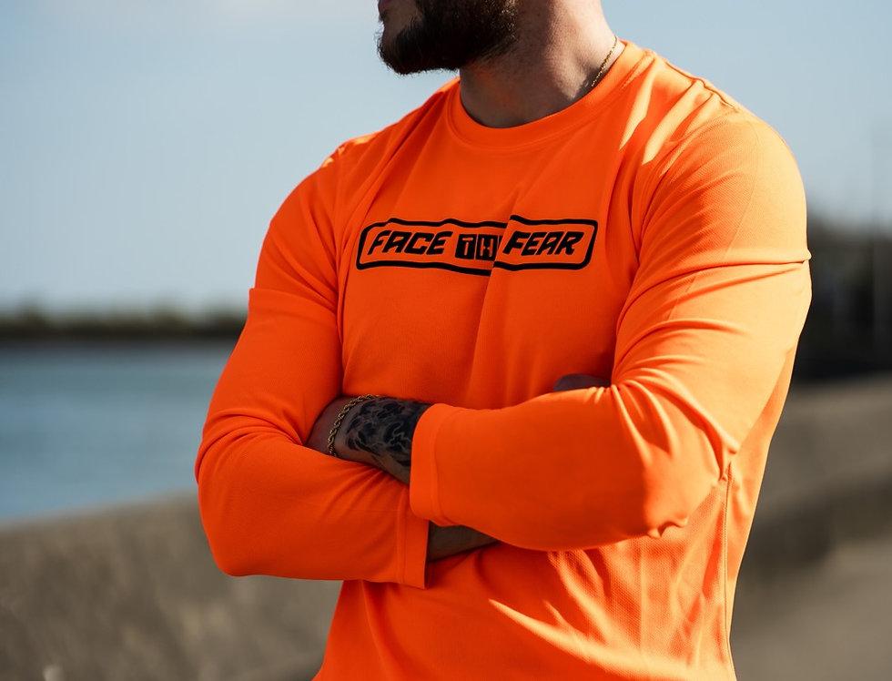 Men's Neon Long Sleeve - Orange