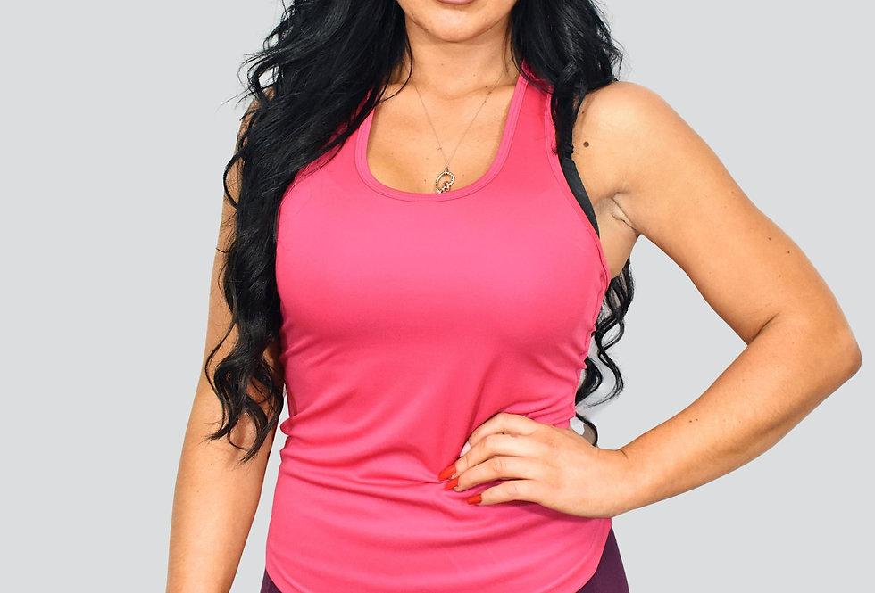 Women's Strap Back Vest - Hot Pink