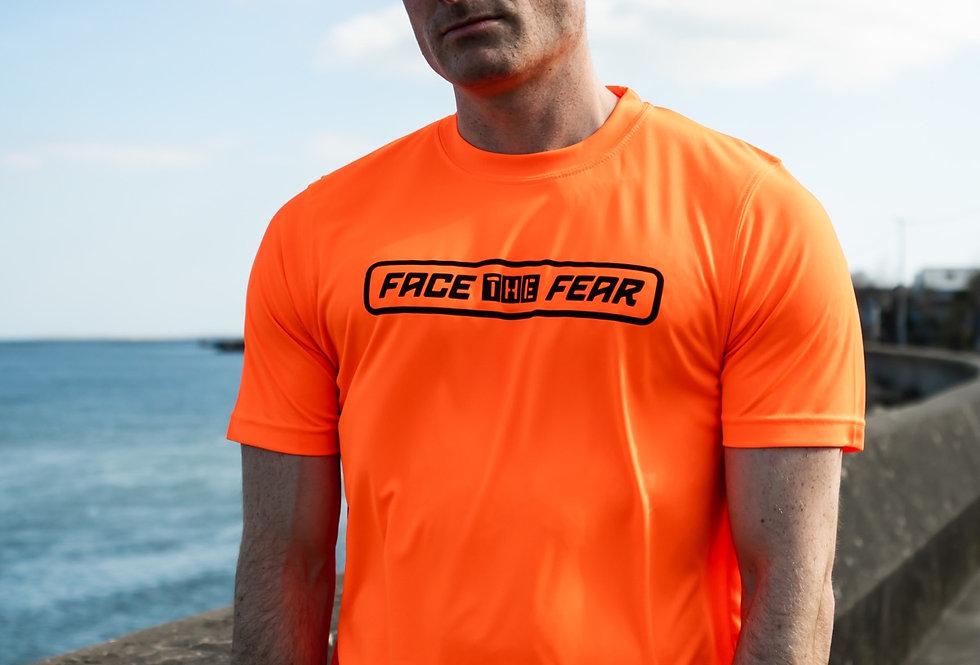 Men's Neon Training T-Shirt - Orange