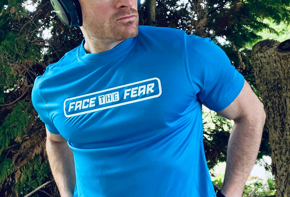 Men's Neon Training T-Shirt - Sapphire