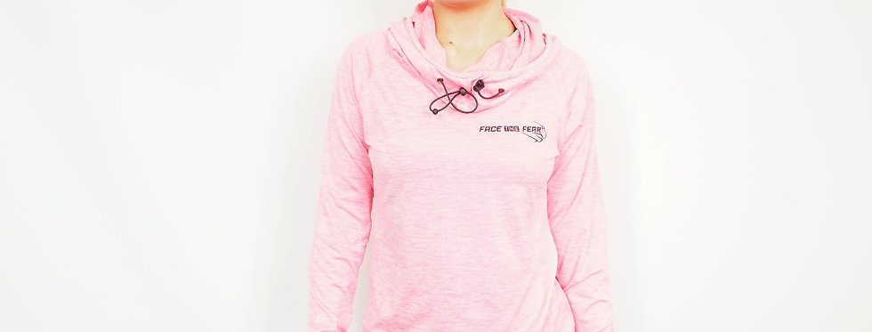 Women's Cowl Neck Top - Electric Pink
