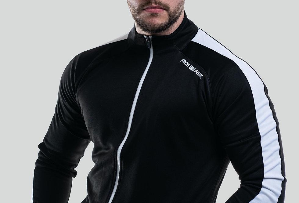 Unisex Contrast Tracksuit Top - Black/White
