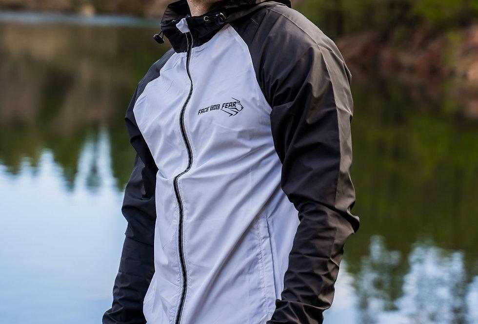 Men's Run Light Jacket - Black/White