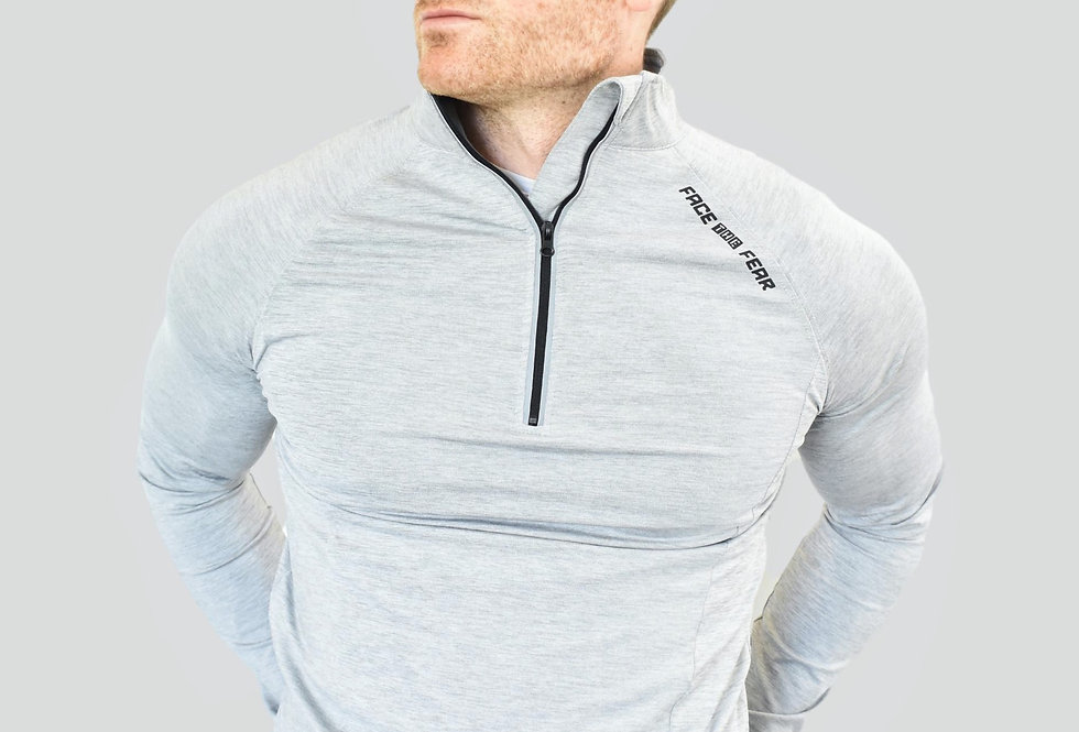 Men's Ultimate Flex 1/2 Zip - Silver Grey
