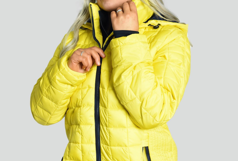 Women's Pro Padded Jacket - Yellow/Navy