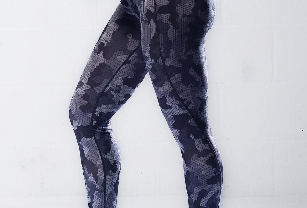 Women's Camo Leggings - Charcoal