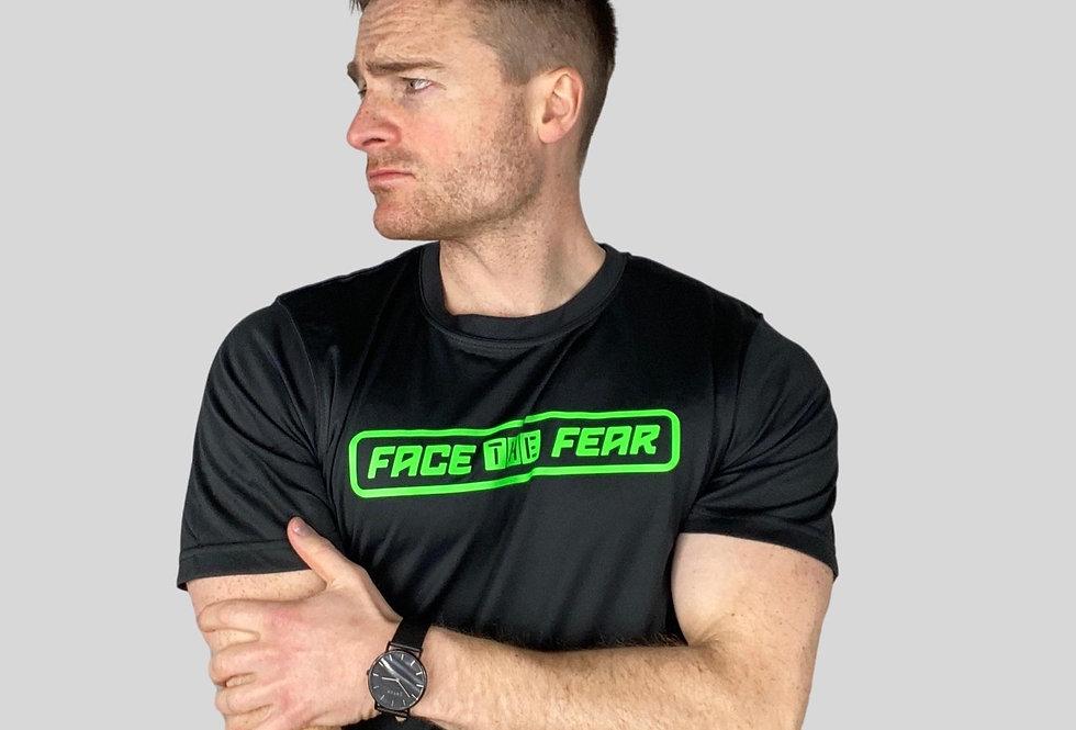 Men's Neon Training T-Shirt - Black