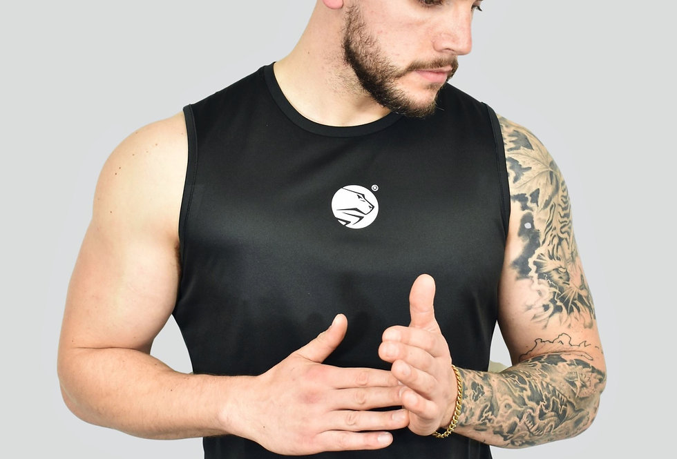 Men's Lion Heart Vest - Jet Black