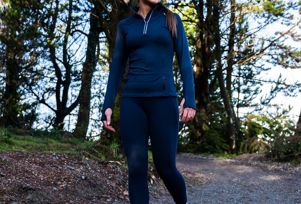 Women's Athletic Leggings - Navy