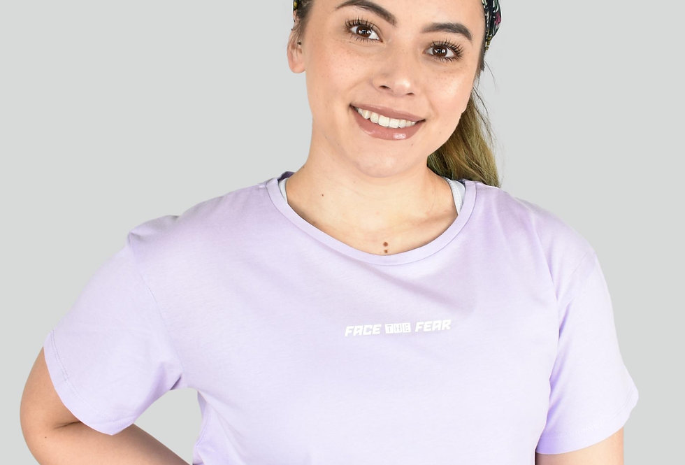 Women's Cropped T - Lilac