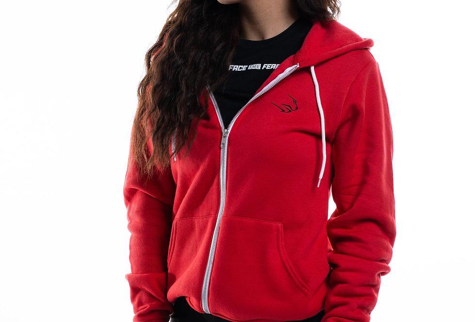Unisex Polycotton Hoodie - Red