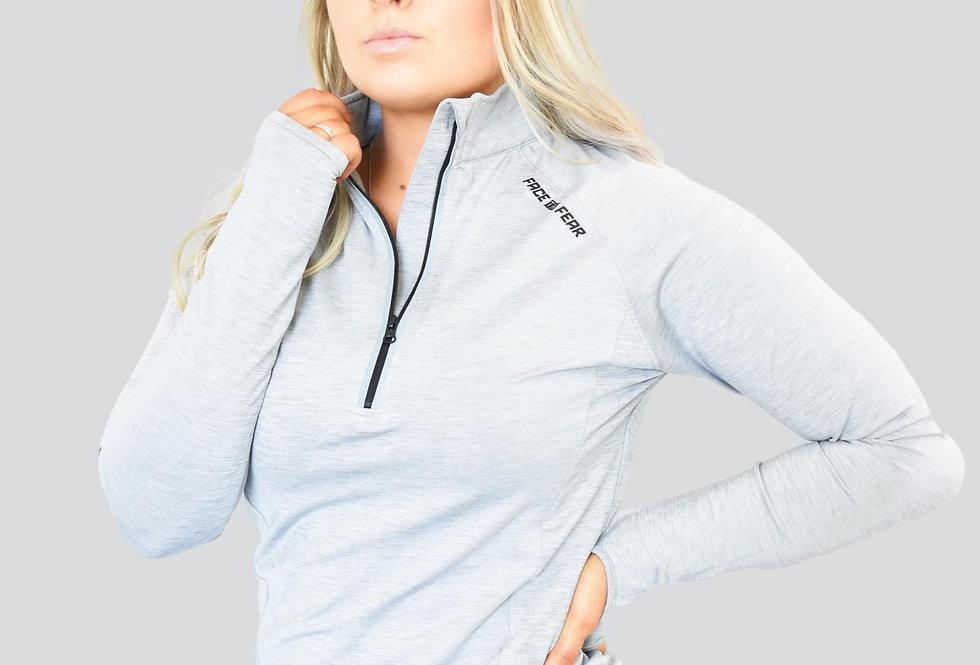 Women's Ultimate Flex 1/2 Zip - Silver Grey
