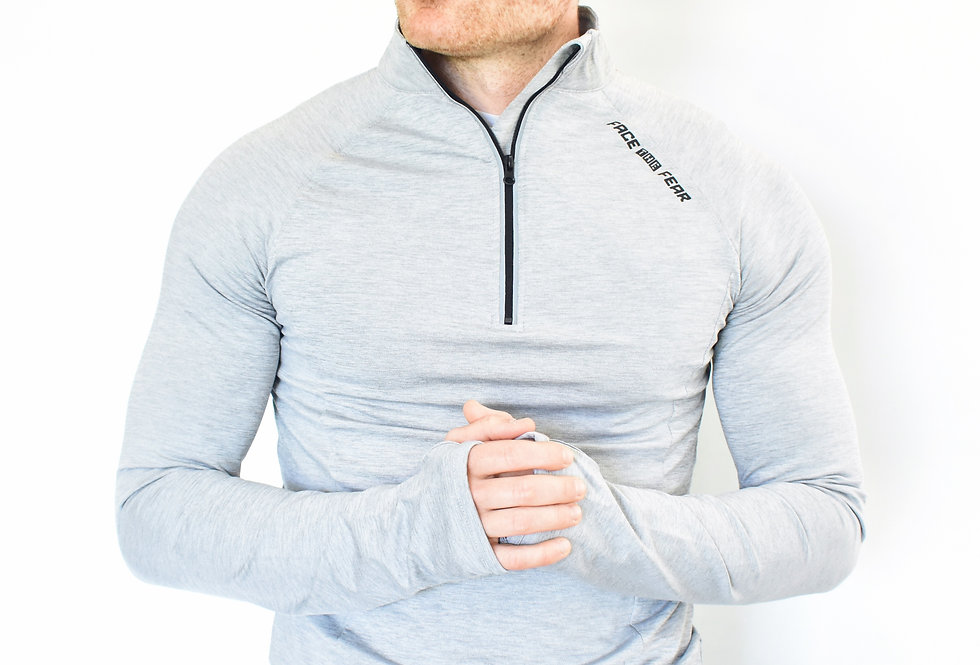 Men's Ultimate Flex 1/2 Zip - Silver Grey