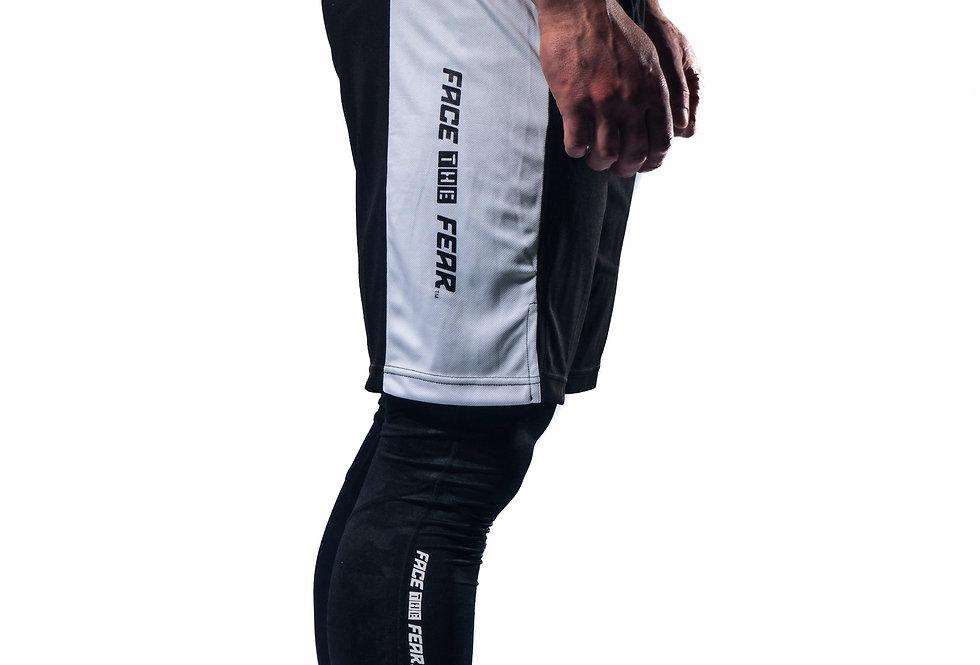 Men's Panel Shorts - Black/White