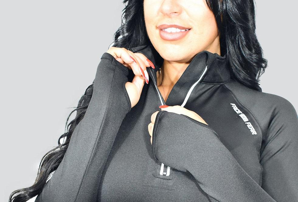 Women's Ultimate Flex 1/2 Zip - Jet Black