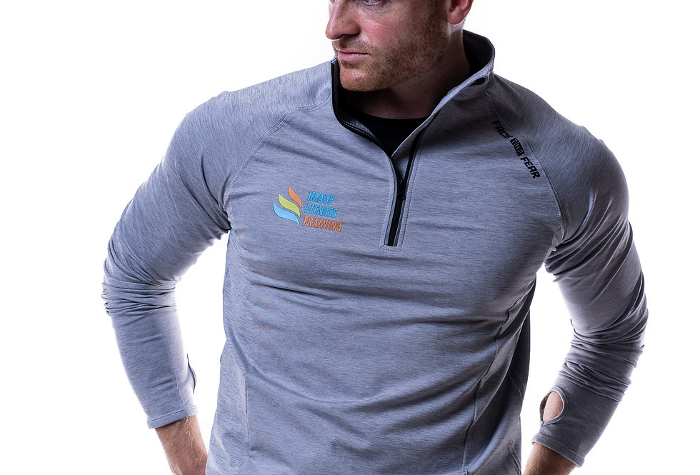IF Men's Ultimate Flex 1/2 Zip - Silver Grey